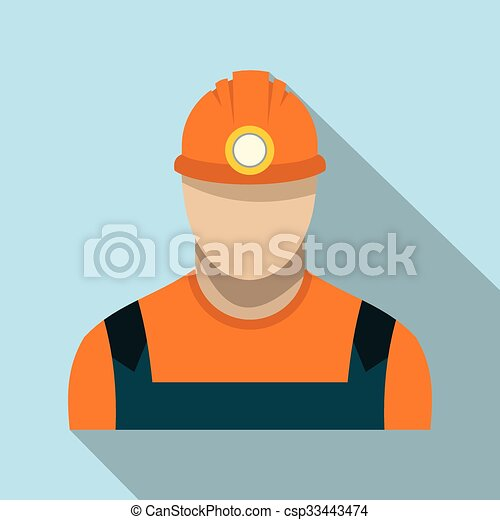 כורה של פחם, איקון, דירה - csp33443474
