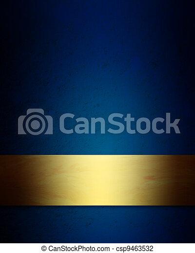 כחול, אלגנטי, רקע, זהב, חג המולד - csp9463532