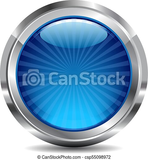 כחול, כפתר, וקטור, עצב, איקון, מבריק - csp55098972