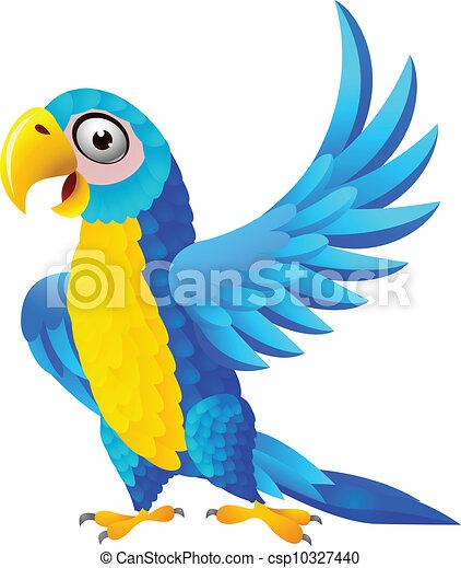 כחול, מקאו, ציור היתולי - csp10327440