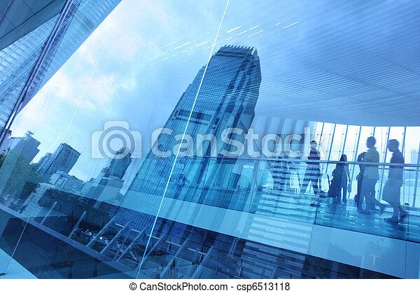 כחול, עיר, רקע, כוס - csp6513118