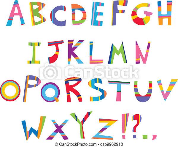 כיף, אלפבית - csp9962918