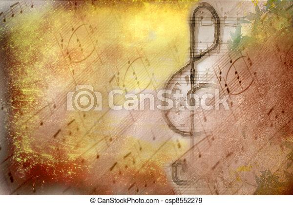 כלאף, טרבל, פוסטר, גראנג, מוסיקלי - csp8552279