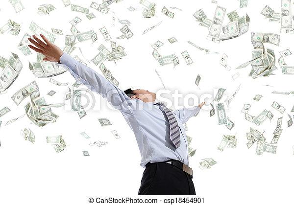 כסף, חבק, איש של עסק - csp18454901