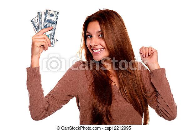 כסף, מקסים, אישה, פדה, צעיר - csp12212995