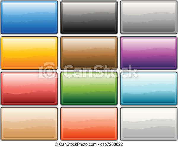 כפתורים, מבריק, אינטרנט - csp7288822