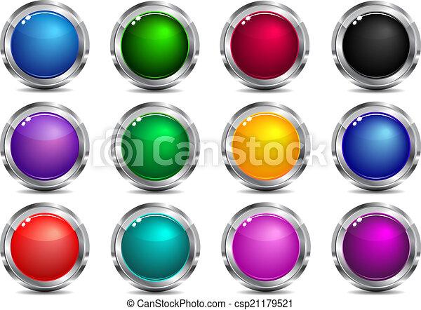 כפתורים, רשת, אפליקציה, ניווט, אתר - csp21179521