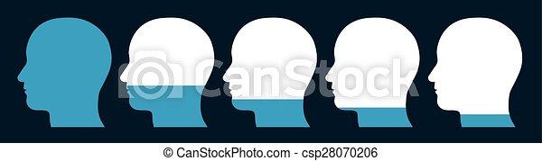 להקטין, ראשים, השוה - csp28070206