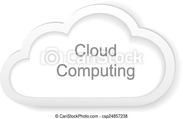לחשב, ענן, מושג - csp24857238