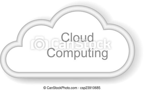 לחשב, ענן, רקע, מושג, לבן - csp23910685