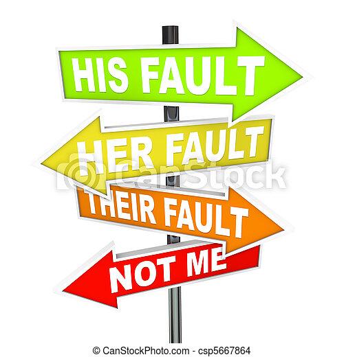 ליקוי, -, האשם, להעביר, חץ, סימנים, לא, שלי - csp5667864