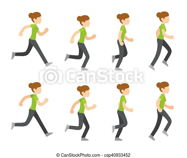 לרוץ, אישה, אנימציה - csp40933452
