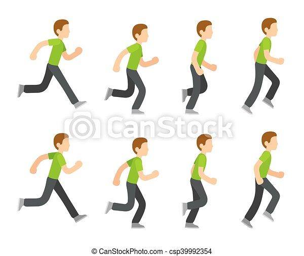 לרוץ, אנימציה, איש - csp39992354
