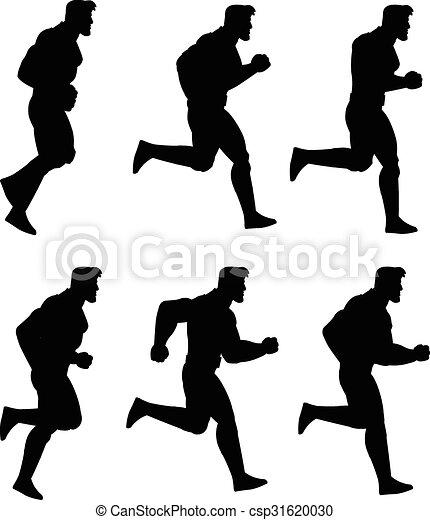 לרוץ, אנימציה, צללית, איש, ס.פ. - csp31620030
