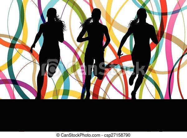 לרוץ, כושר גופני, לרוץ, נשים - csp27158790