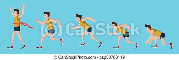 לרוץ, לבן, עלה, רקע, איש - csp50788119