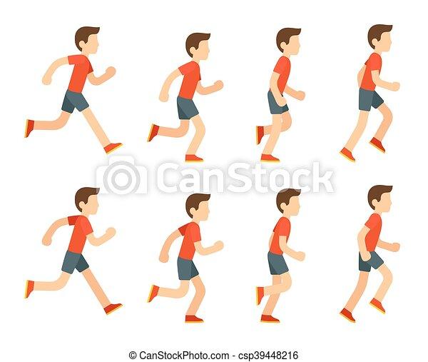 לרוץ, animation., איש - csp39448216