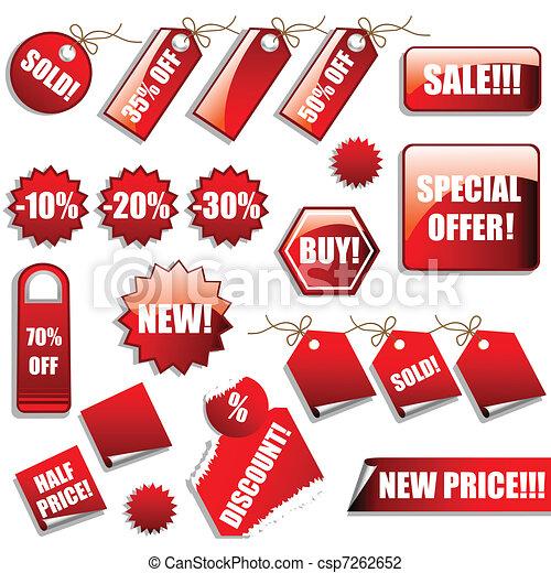 מדבקות, מכירות, פתקים - csp7262652