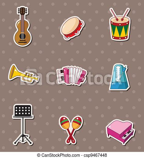 מוסיקה, מדבקות - csp9467448