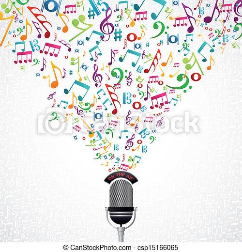 מוסיקה רואה, עצב, מיקרופון - csp15166065