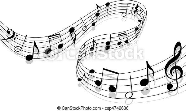 מוסיקה, רקע - csp4742636