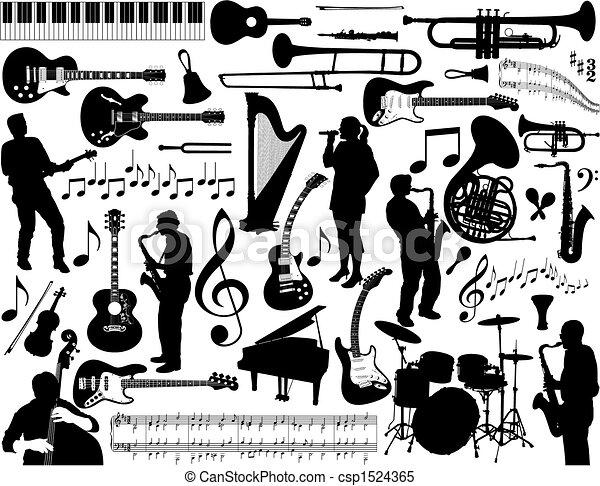 מוסיקה, elements. - csp1524365