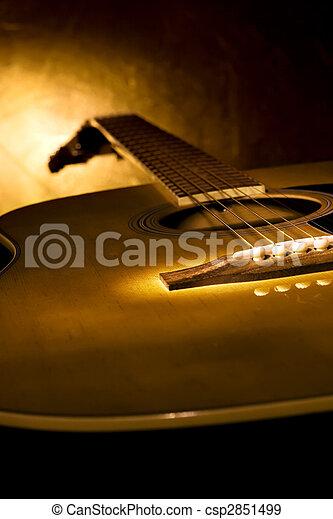 מושלם, גיטרה, מוסיקה, רקע. - csp2851499