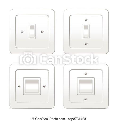 מחליף, אור, וקטור, דוגמה, ארבעה - csp8731423