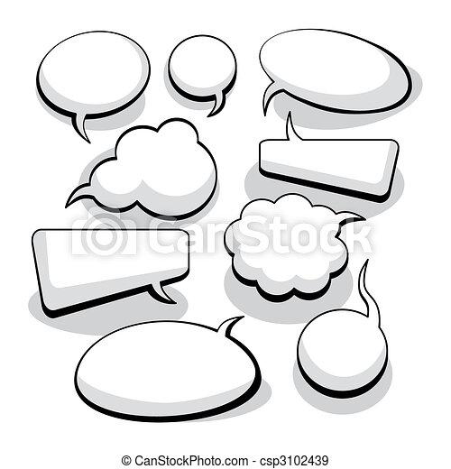 מחשבה, נאום, בועות, (vector) - csp3102439