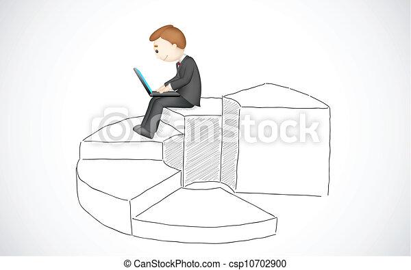 מחשב נייד, עסק, לעבוד, איש - csp10702900