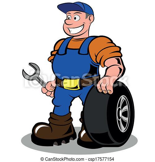 מכונאי של מכונית - csp17577154
