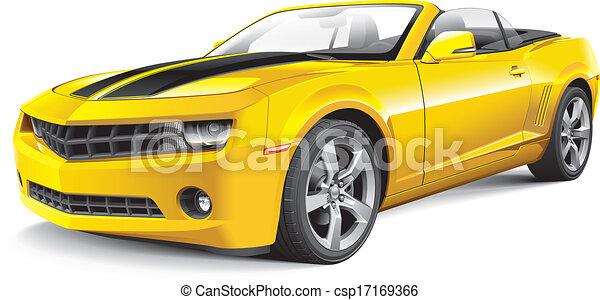 מכונית, אמריקאי, שריר, הפיך - csp17169366