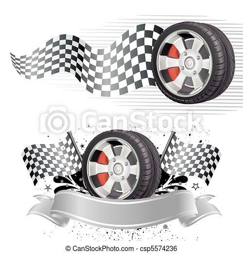 מכונית, יסוד, רוץ - csp5574236
