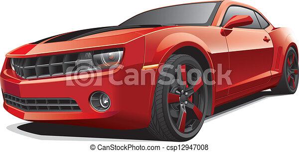 מכונית, שריר, אדום - csp12947008