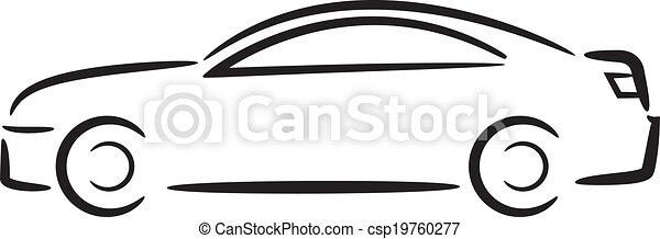 מכונית, outline. - csp19760277