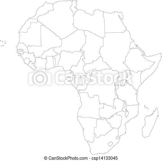 מפה, אפריקה, תאר - csp14133045
