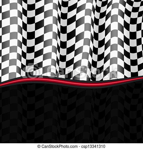 משובץ, eps10, flag., רקע., וקטור, לרוץ - csp13341310