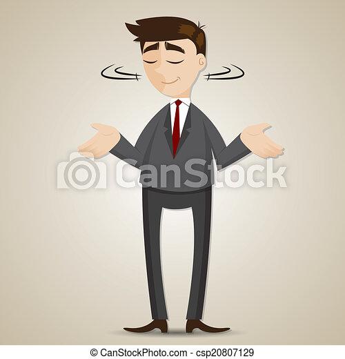 משיכת כתפים, איש עסקים, ציור היתולי, כתף - csp20807129