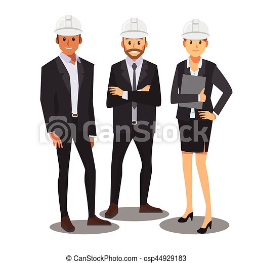 ניהול, ), התחבר, וקטור, כובע לבן, הנדס - csp44929183