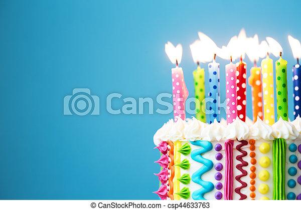 נרות, יום הולדת, צבעוני - csp44633763