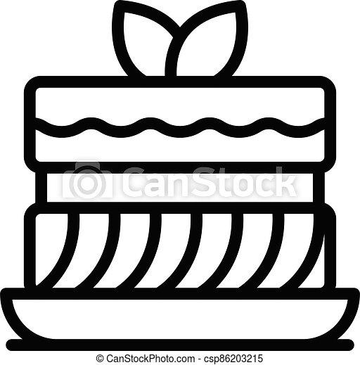 סיגנון, עוגה, תאר, איקון - csp86203215