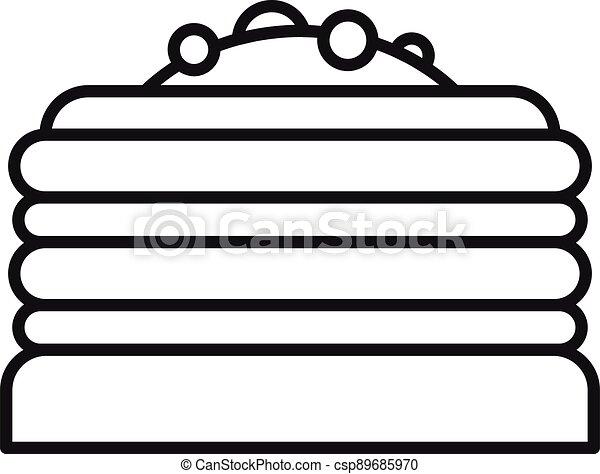 סיגנון, תאר, עוגה, איקון - csp89685970
