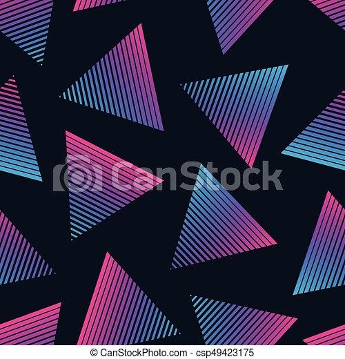 סיגנון, תבנית, seamless, וקטור, ראטרו, 80s - csp49423175