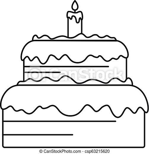 עוגה, איקון, סיגנון, תאר, ממתק - csp63215620