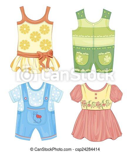 עונתי, בגדים, קבע, ילדים - csp24284414