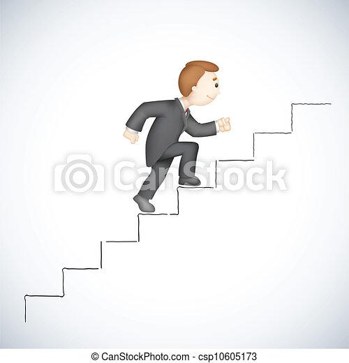 עסק, לטפס, הצלחה, מדרגה, איש - csp10605173