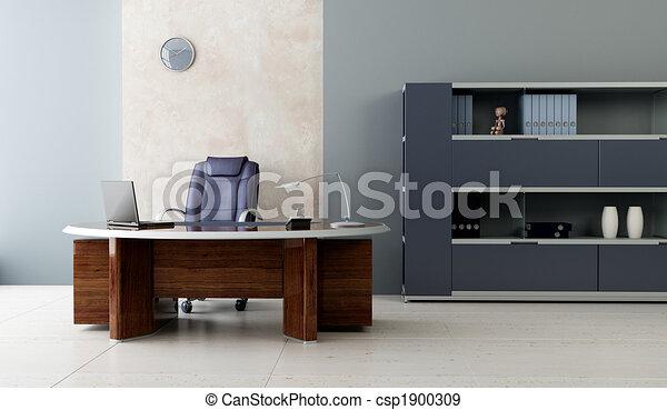 פנים, מודרני, משרד - csp1900309