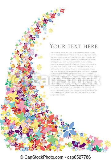 פרחים, קפוץ, רקע - csp6527786