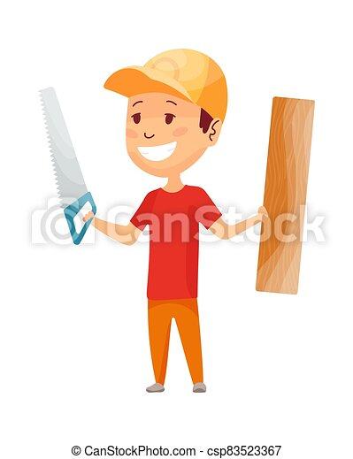 צהוב, builder., הנדס, job., helmet., עלה, צחק, דיר, לעשות, עבד, קבלן, בניה, שיתוף פעולה, לעבוד, מצחיק, ראה, עובד, קטן, בנה, ילדים - csp83523367