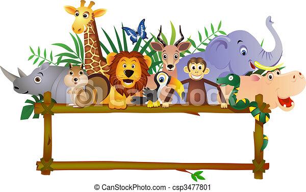 ציור היתולי, בעל חיים - csp3477801